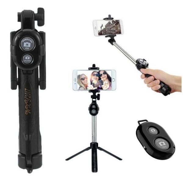 ISO 8689 Selfie tyč, statív s bluetooth ovládačom 3v1