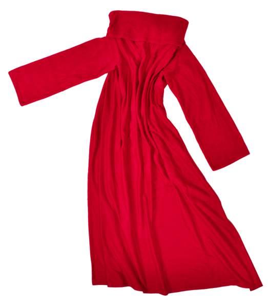ISO Fleecová deka s rukávmi - červená