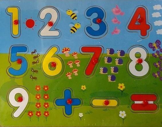 KIK KX7880 Vkládací puzzle čísla1