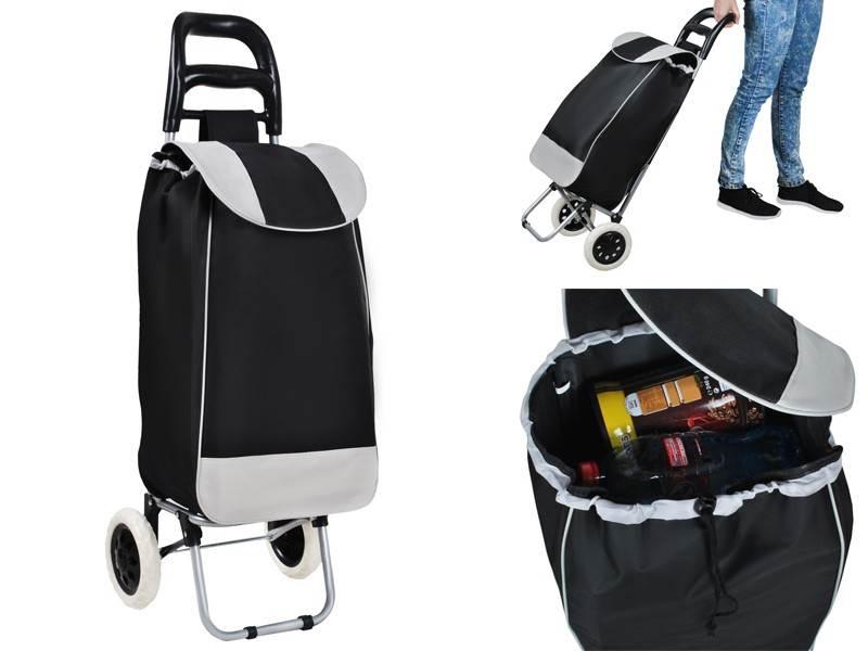 Nákupná taška na kolieskach 25L čierno-šedá
