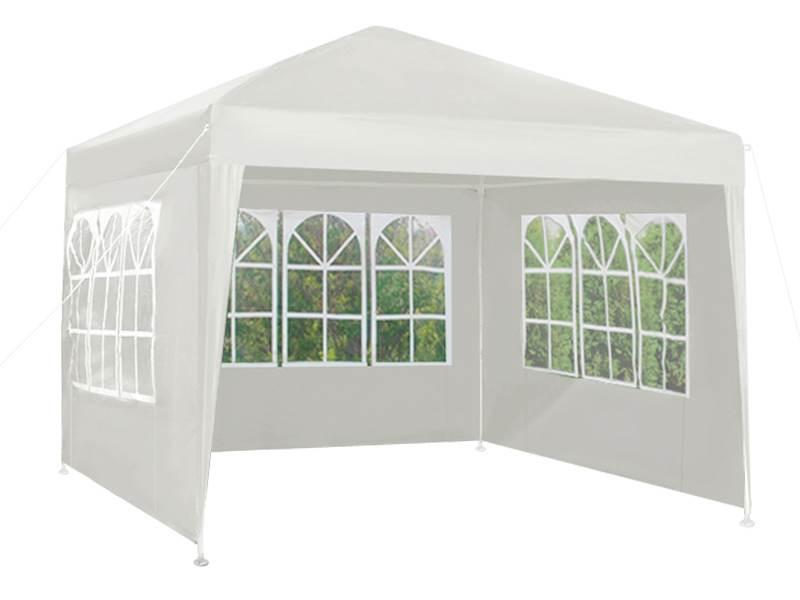 Malatec 5502 Záhradný párty stan 3 x 3 m + 3 bočné steny biely