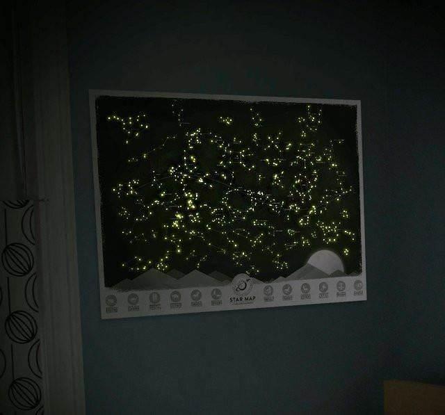 GFT Svietiace mapa súhvezdí 61,5 x 43,5 cm
