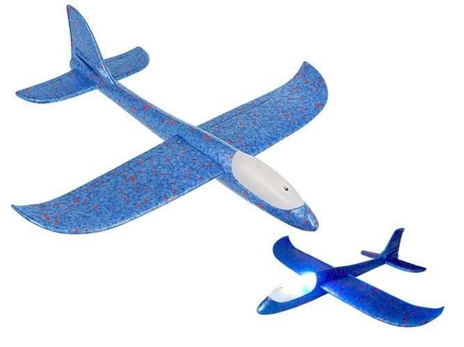 ISO Penové Hádzacie Lietadlo LED 37 x 37 cm modré