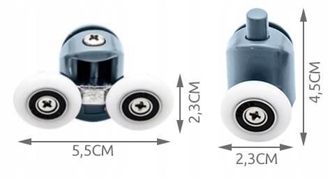 ISO 9646 Kolečka ke sprchovým koutům 8 ks2