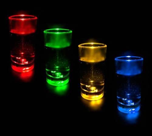 APT Svítící LED skleničky 12 Ks