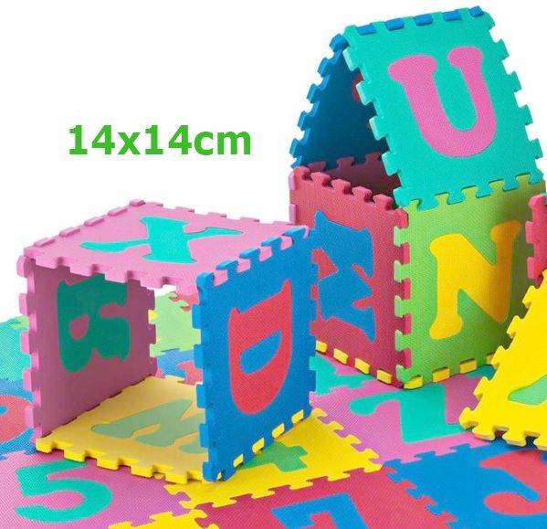 EVA Pěnové puzzle 14 x 14cm - 36 ks