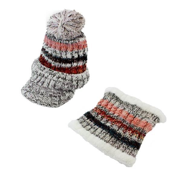APT Dámska zimná čiapka s nákrčníkom šedá2