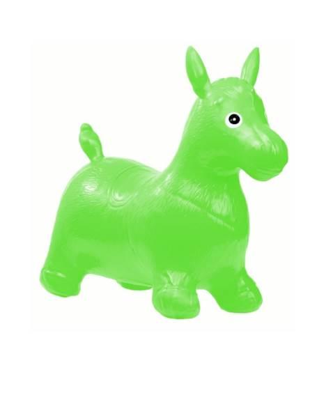 KIK Skákací nafukovací koník 60x50cm zelený