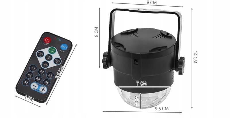 ISO 7056 LED disko gule s diaľkovým ovládaním2