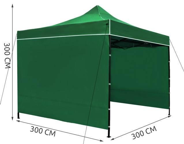Malatec 3249 Prodejní stánek 3x3 m + 3 stěny zelený10