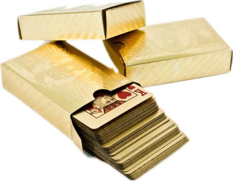 OEM Zlaté hrací karty
