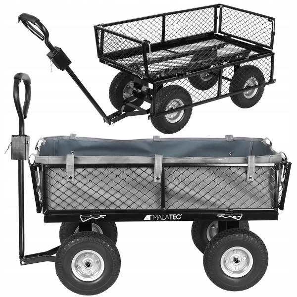 Malatec 9038 Záhradný vozík s výklopnými bokmi nosnosť 600 Kg1