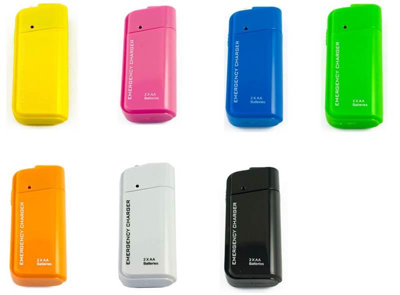 KIK USB nabíjačka na AA batérie pre mobilné telefóny, MP3 MP4 prehrávače