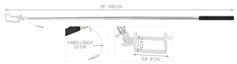 ISO monopod na SELFIE s kabelem minijack 3,5mm Basic5
