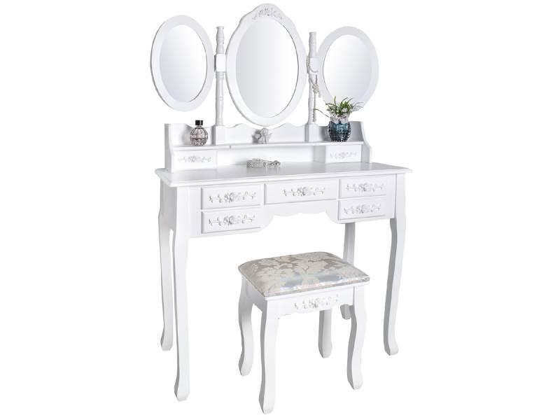 Malatec 4644 Toaletní stolek se stoličkou a zrcadlem XL