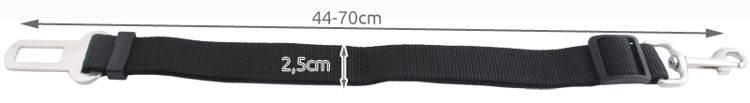 ISO Bezpečnostní Pás pro psa do Auta 25mm x 44- 70cm4