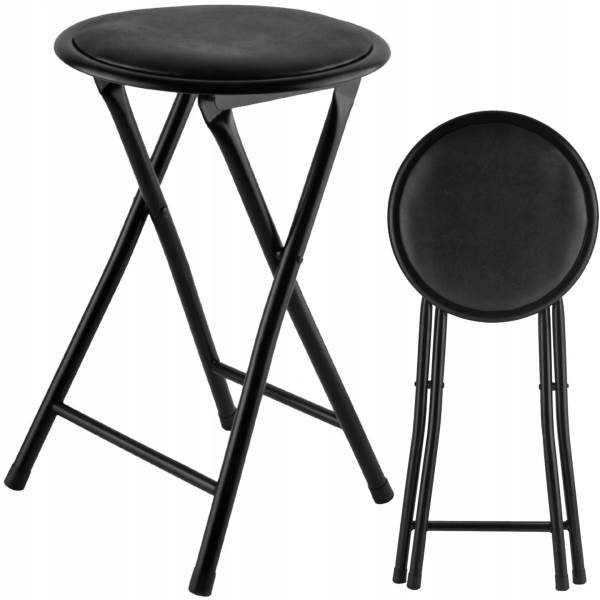 Malatec 7891 Skládací barová židle černá