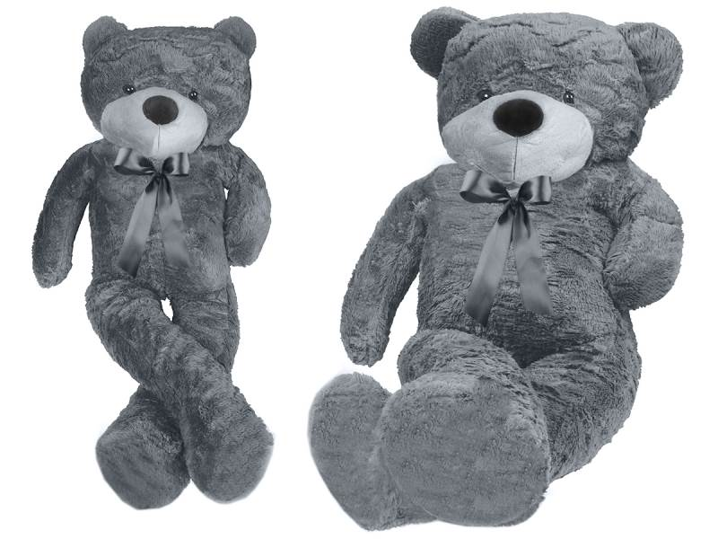 Veľký plyšový medveď sivý 160 cm