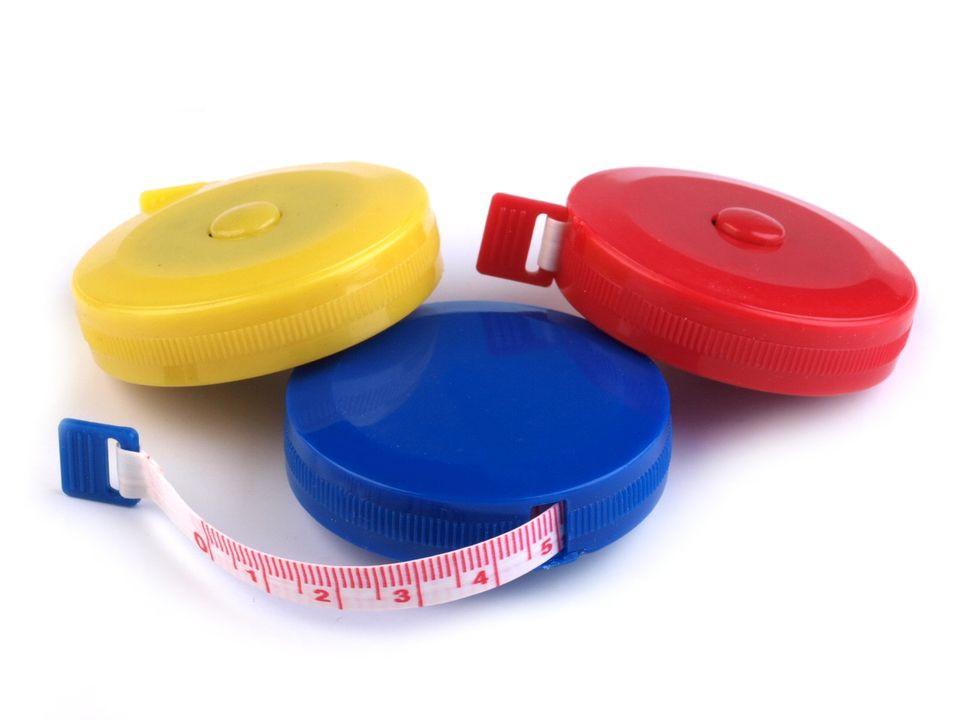 GGV Krajčírsky meter zvinovací, obojstranný, plastový, dĺžka 150 cm color