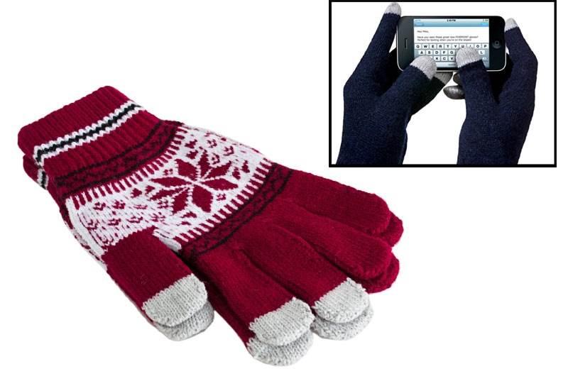 APT Rukavice na ovládání dotykových displejů červené