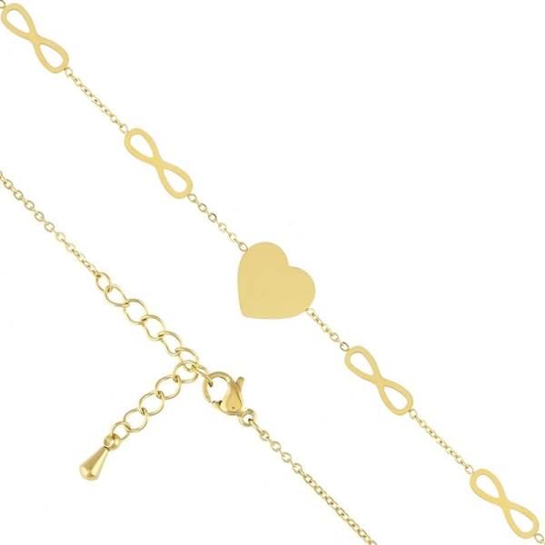 Xuping Náramek Nekonečno chirurgická ocel zlatá barva BP4750