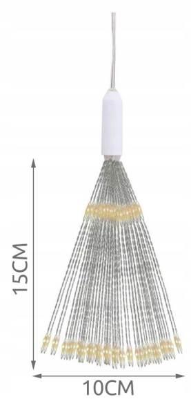 ISO 9515 Vánoční LED osvětlení ohňostroj 100 LED teplá bílá2