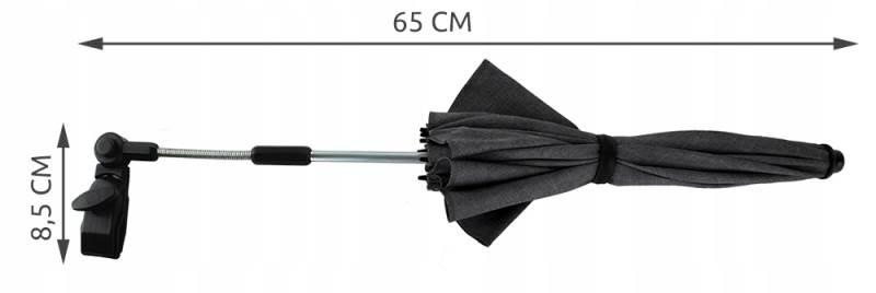 ISO 6571 Slnečník na kočík tmavosivý Ľan3