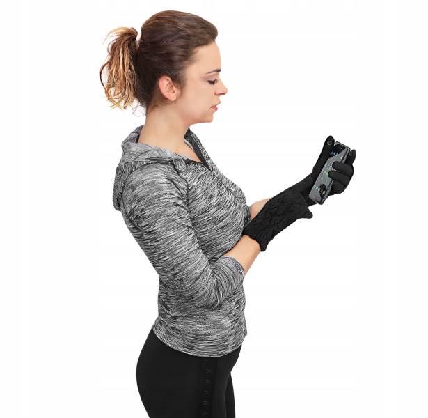 ISO 6413 Zimní rukavice na dotykové displeje 2v1 černé10