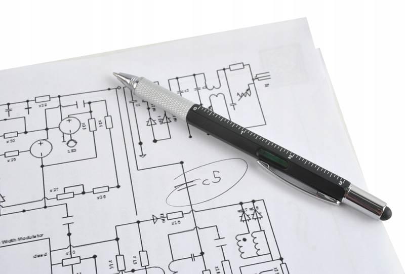 ISO 6337 Viacúčelové pero 6 v 1 čierna6