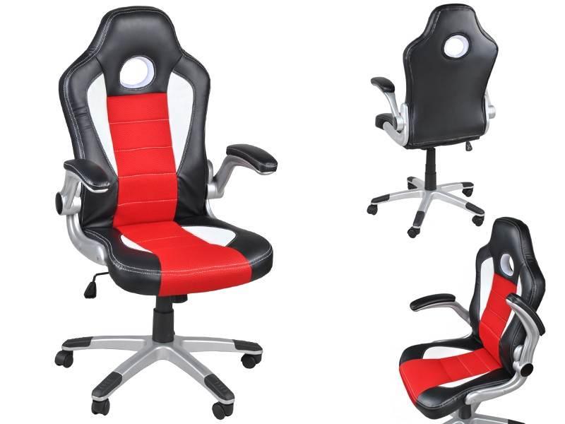 Malatec 2740 Kancelářská židle sportovní design červená