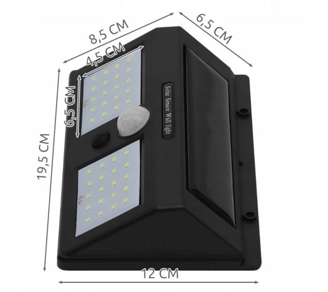 ISO 6683 Solární LED světlo s PIR čidlem pohybu 10W2