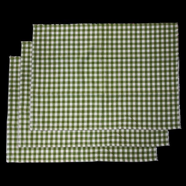 Utěrka, 3 ks, zelený kanafas