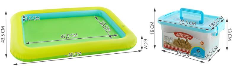 PlaySand Magický tekutý piesok 2000g + formičky + pieskovisko2