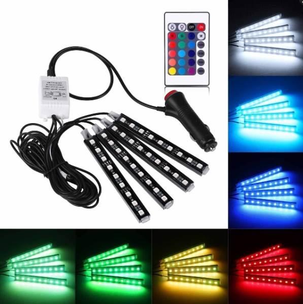APT ZD65A LED pásik RGB 4x9 LED sada pre interiéry automobilov