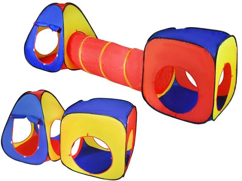 ISO 4826 Dětský stan 3v1 - barevný