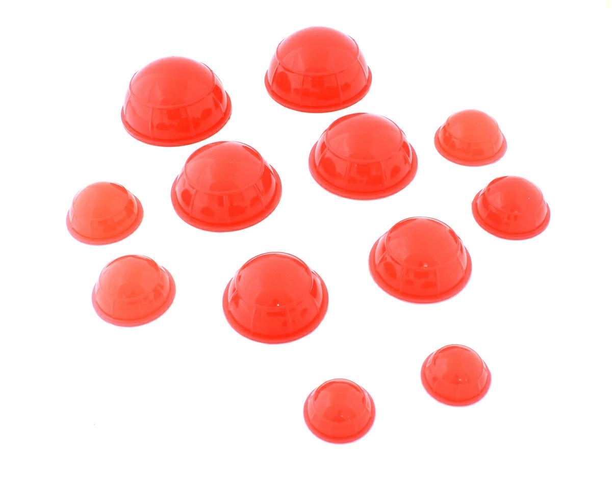 APT Silikónové masážne banky 12 ks červenej