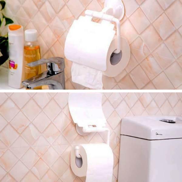 GFT Držiak toaletného papiera s prísavkou biely