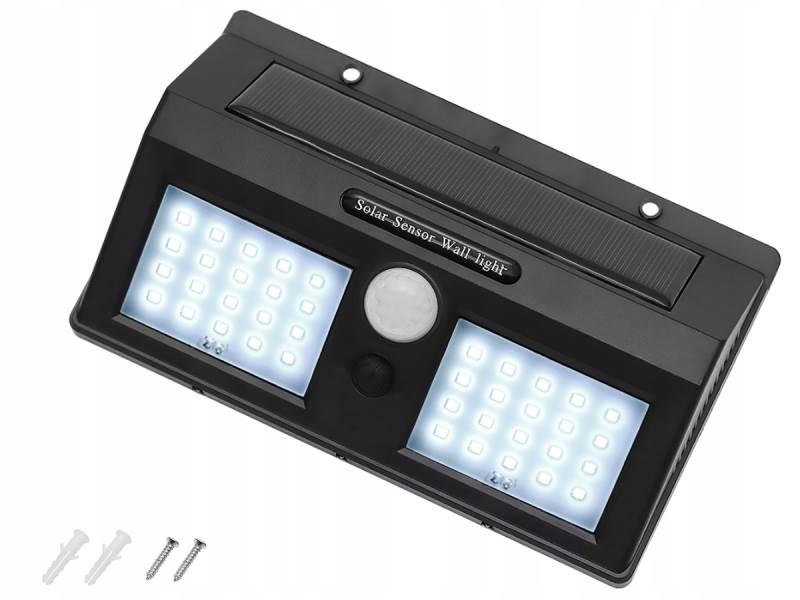 ISO 6683 Solární LED světlo s PIR čidlem pohybu 10W