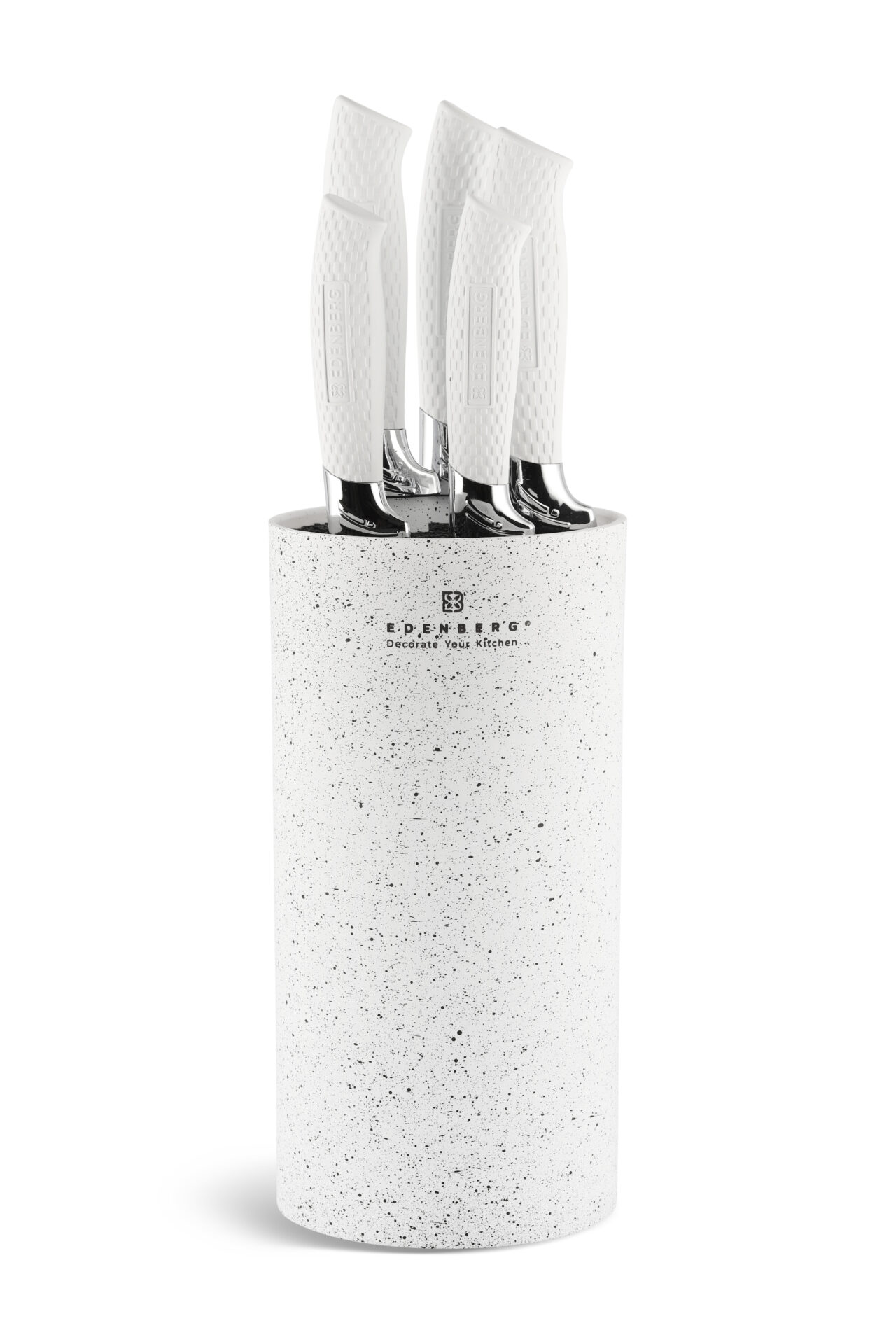 Edenberg EB-5103 Sada nožů v bloku 6 ks bílá