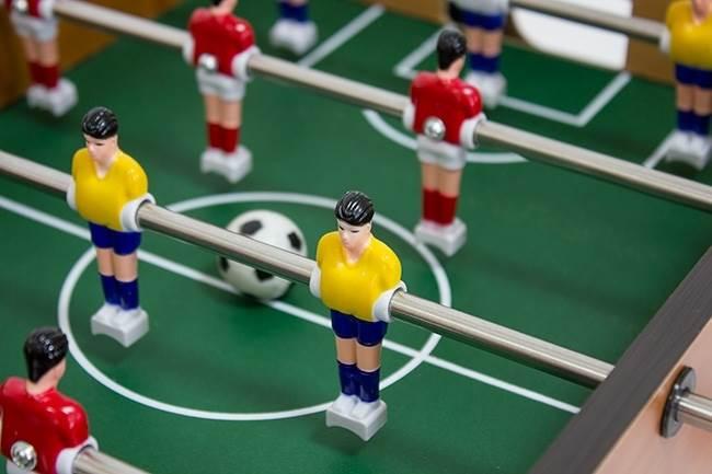 MAX Mini stolný futbal futbalček 51 x 31 x 8 cm svetlý2