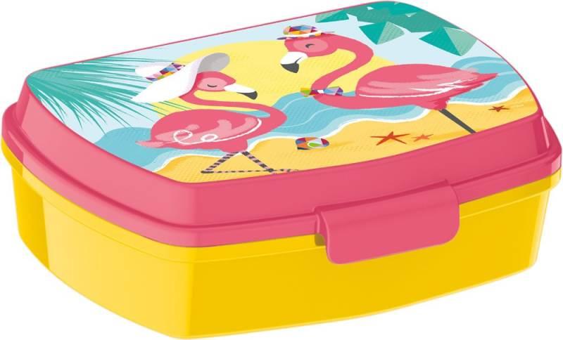 Javoli Box na desiatu Plameniaky žltý
