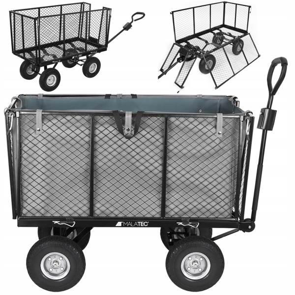 Malatec 9040 Zahradní vozík s výklopnými boky nosnost 600 Kg