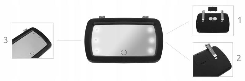 ISO 8929 Zpětné LED zrcátko pro kontrolu dítěte 5