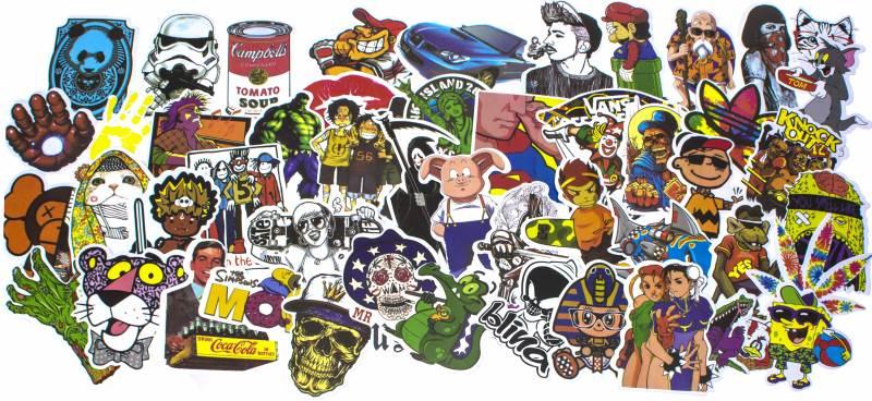 KIK Nálepky na auto Stickers Bomb 50 kusov