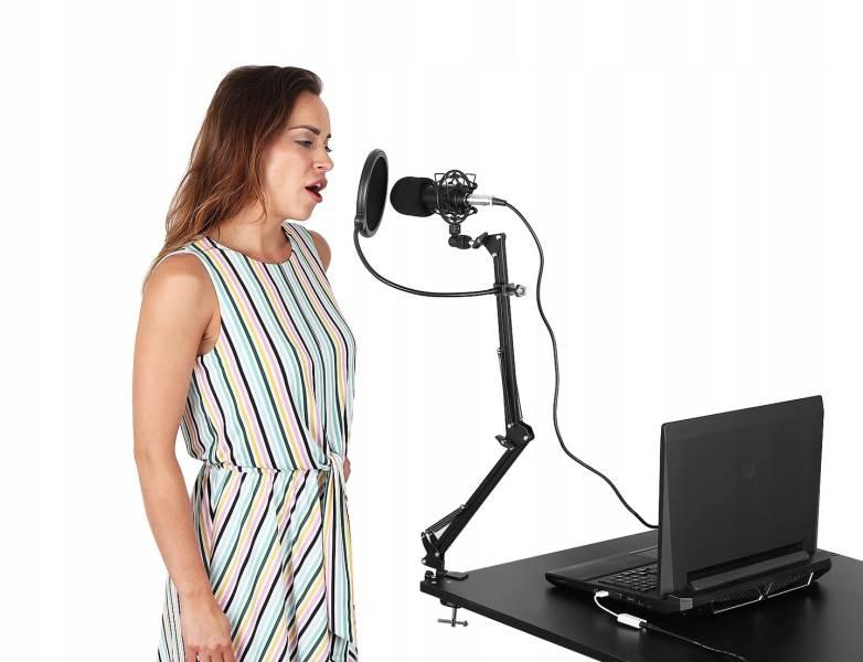 ISO 8957 Profesionálny štúdiový mikrofón pre náročných užívateľov so stojanom4