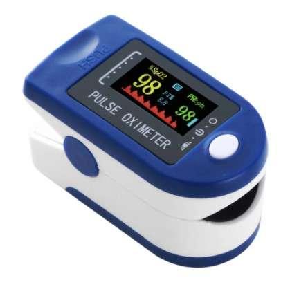 ISO 13583 Prstový pulzný oxymeter LCD