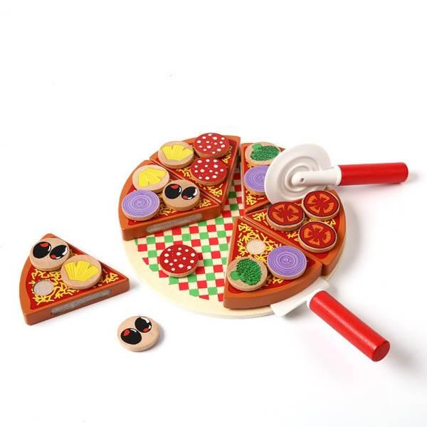 KIK KX7728 Dřevěná krájecí pizza PIZZA1
