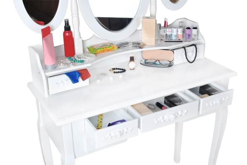 Malatec 4644 Toaletný stolík so stoličkou a zrkadlom XL5