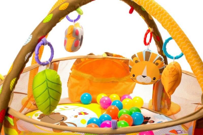 KIK Deka hrací lvíček s míčky 5