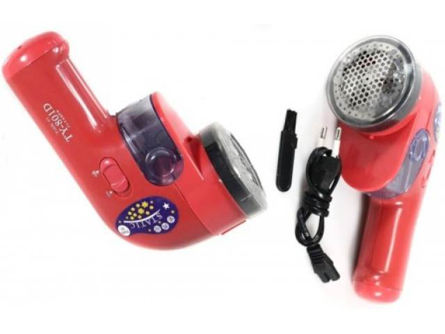 ART TY-801D Odstraňovač žmolkov AKU červená